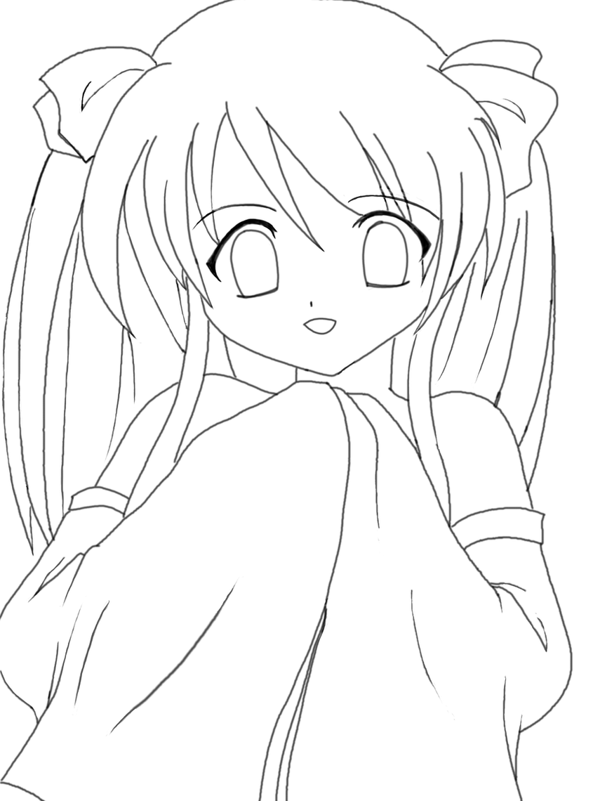 Anime Clipart Black And White.