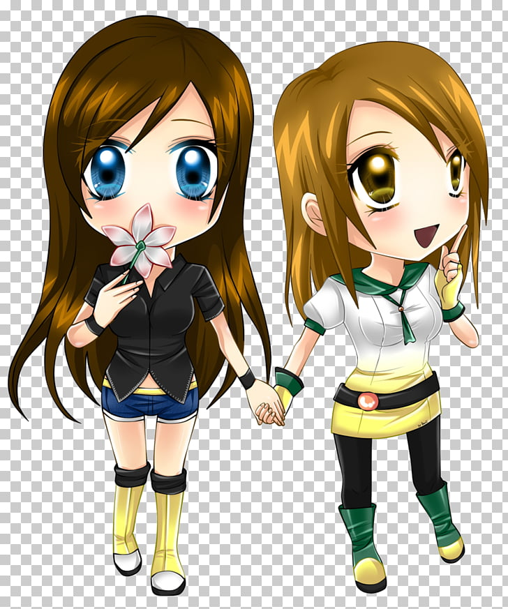 Chibi Anime Friends Drawing, Chibi PNG clipart.