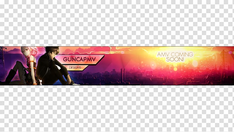 Anime music video Desktop Fan art, youtube banner.