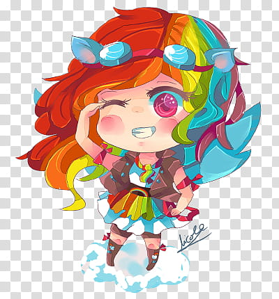 MLP Rainbow Dash human Chibi, orange and blue chibi anime.