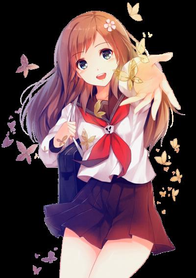 Anime Girl Icon Clipart.