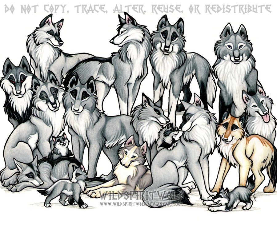 Similiar Wolves In A Clip Art Pack Keywords.