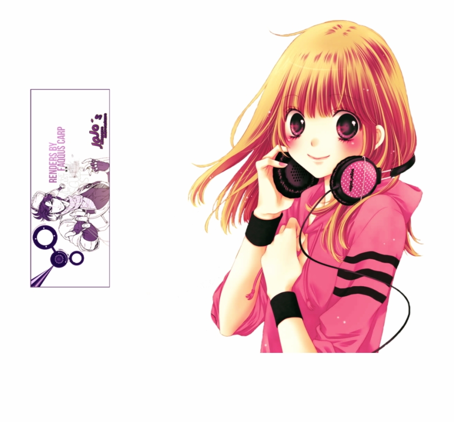 Anime Music Png Anime Girl Music Render.