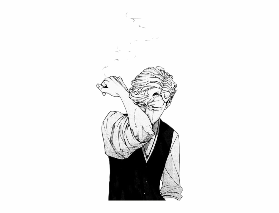 Sadness Smoking Anime Animesad Depression Animeboy Sad.
