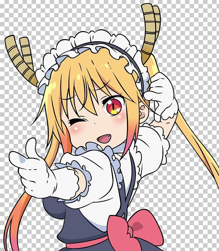 Miss Kobayashi\'s Dragon Maid Anime Manga Sticker PNG.