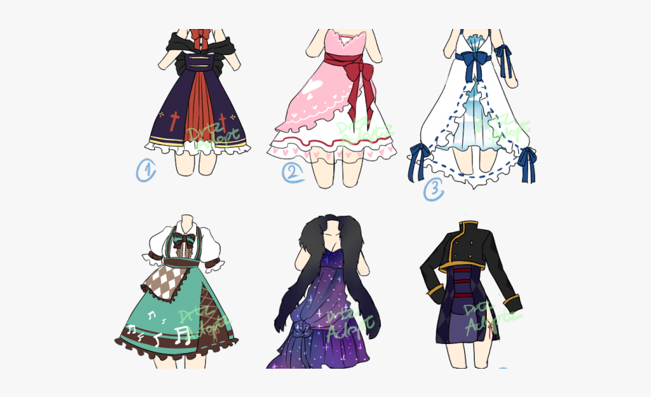 Gown Clipart Anime Dress.