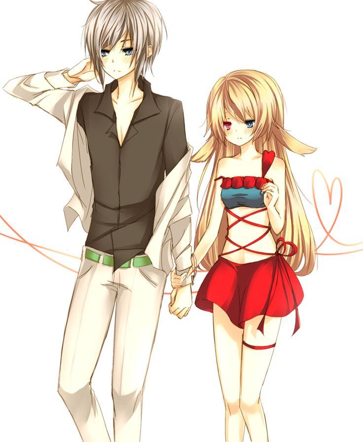 Cute Cartoon Couples Holding Hands.