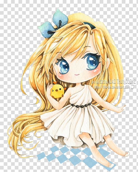 Chibi Anime Drawing Mangaka Catgirl, Chibi transparent.