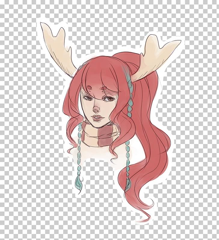 Deer Anime Drawing, deer PNG clipart.