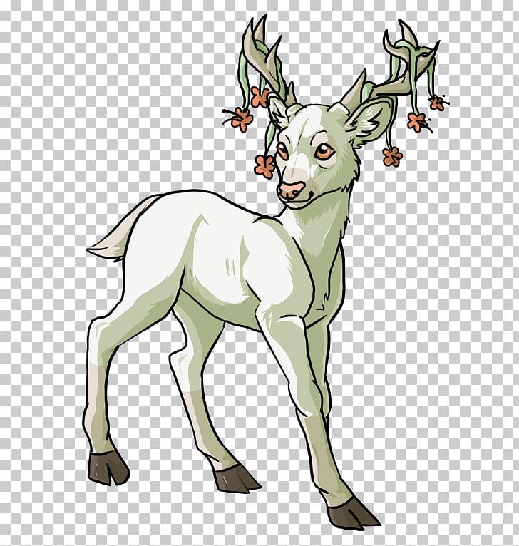 Reindeer Drawing Anime, watercolor deer PNG clipart.