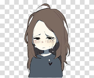 Sad Anime PNG clipart images free download.