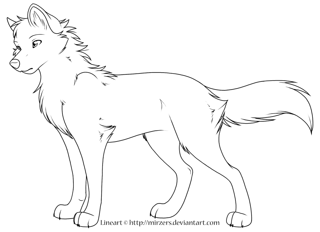 Alpha Wolf Coloring Pages.