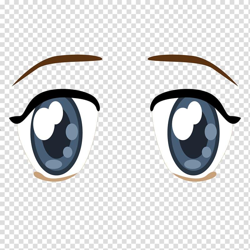 Eye Anime Cartoon, Sunny eyebrow eyebrow trace material.