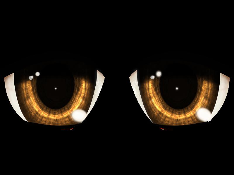 Anime Manga Eyes PNG (Isolated.