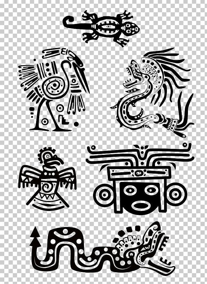 Maya Civilization Tattoo Aztec Symbol Ancient Maya Art PNG.