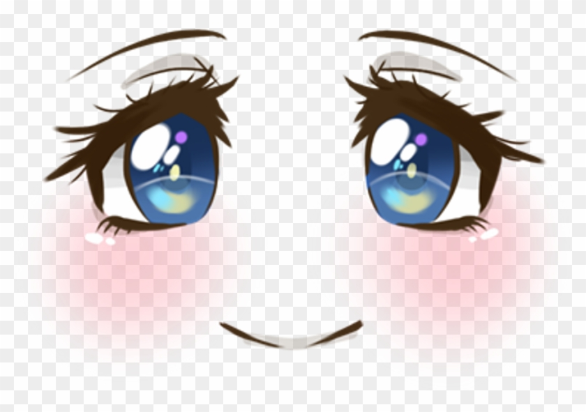 Cute Face Smile Blush Blueeyes Anime Animegirl Manga.
