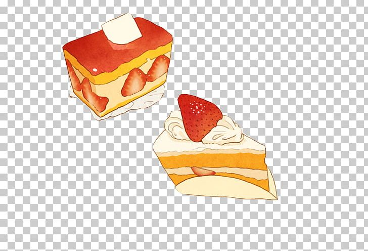 Strawberry Pie Food Anime Cake Illustration PNG, Clipart.