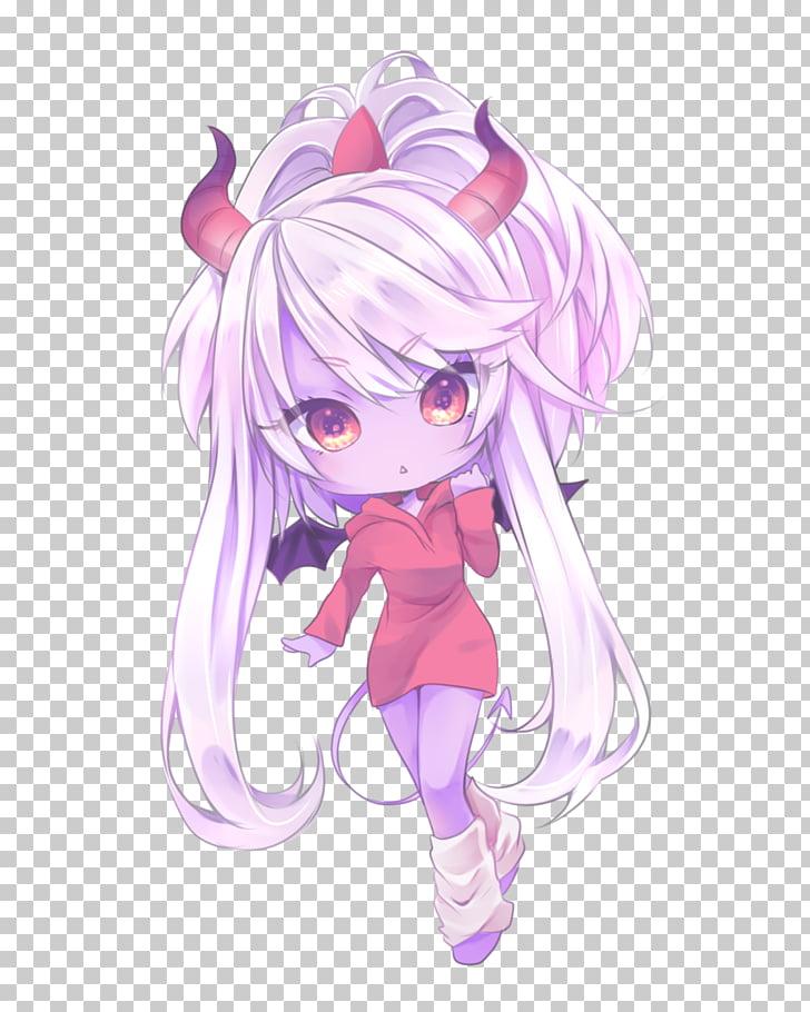 Anime Chibi Drawing Art Mangaka, Anime Girl demon PNG.