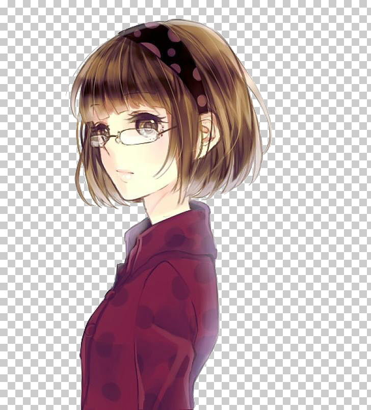 Bob cut Anime Hairstyle Drawing Manga, anime girl PNG.