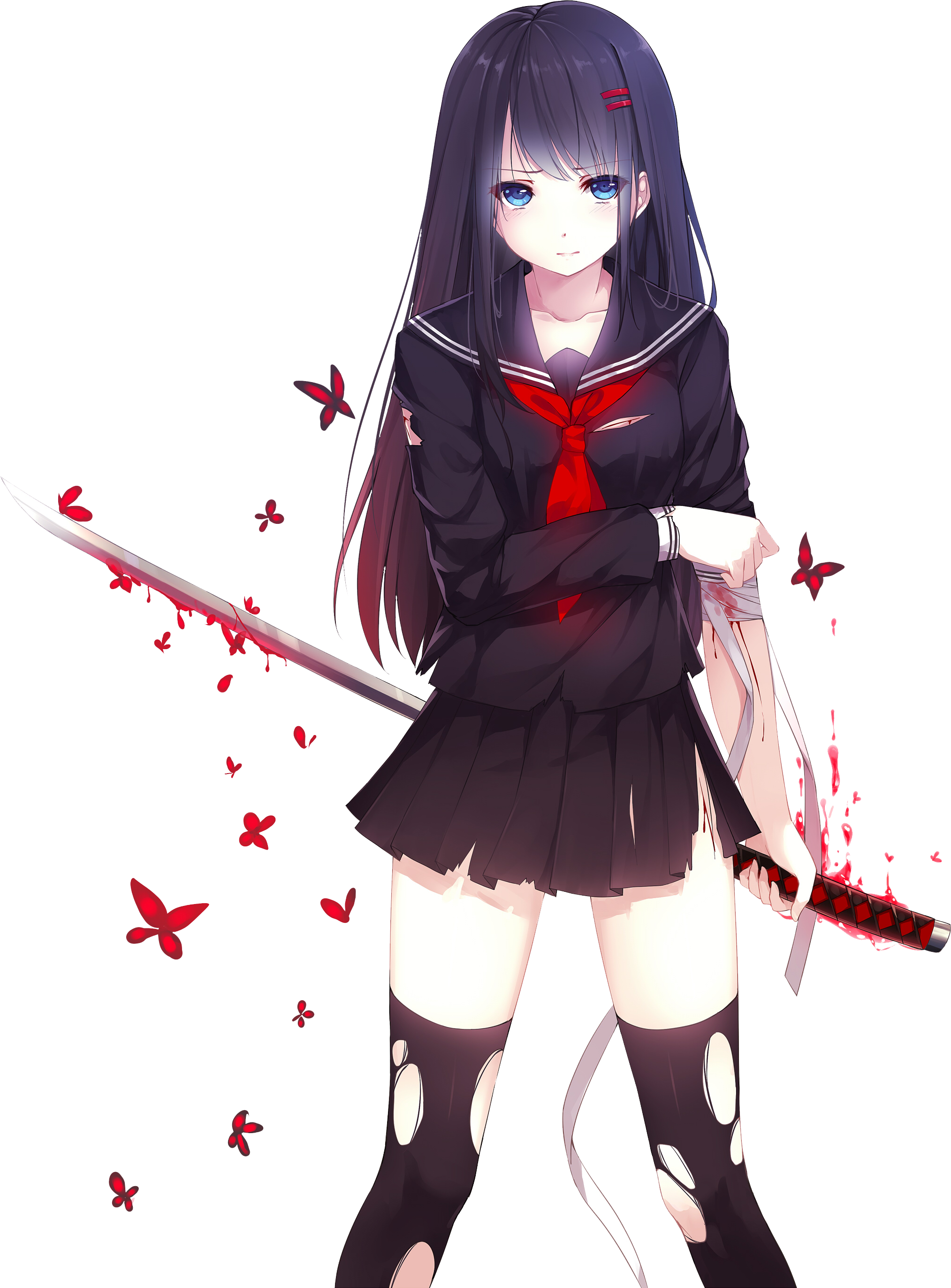 Download Anime Girl PNG Pic.