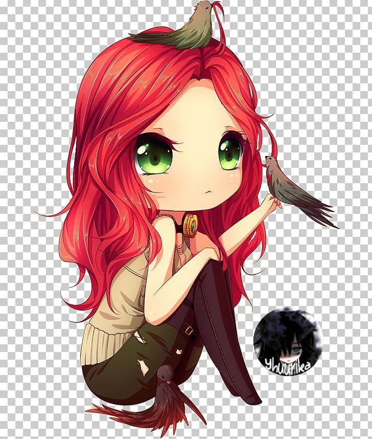 Chibi Red Hair Anime Manga Female PNG, Clipart, Anime, Art.