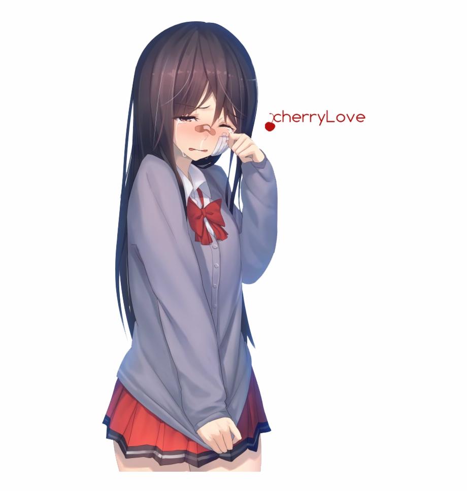 Crying Anime Girl Png.