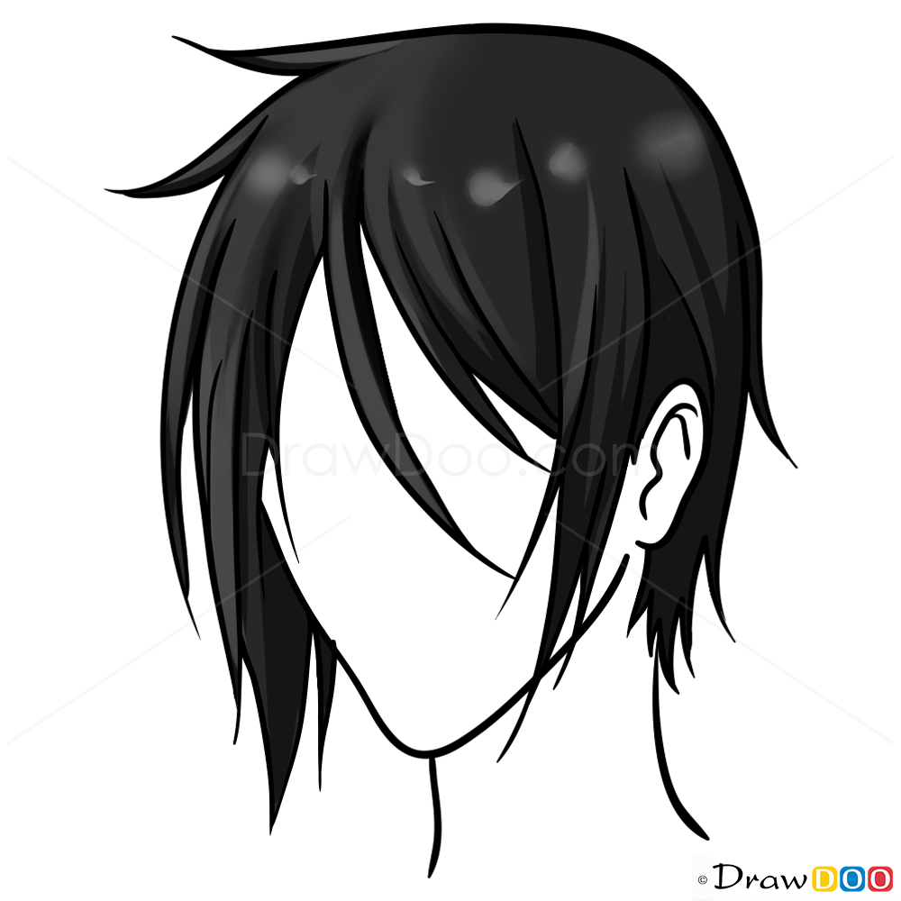 Boy Hair Png Drawing & Free Boy Hair Drawing.png Transparent Images.