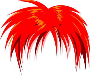 Anime Hair Red PNG, SVG Clip art for Web.
