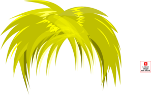 Blond Anime Hair PNG, SVG Clip art for Web.