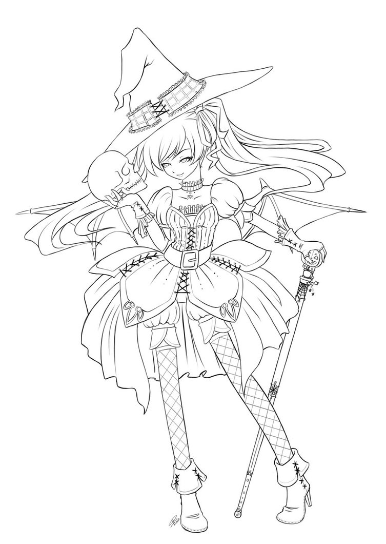 Halloween Queen Lineart by *angelnablackrobe on deviantART.