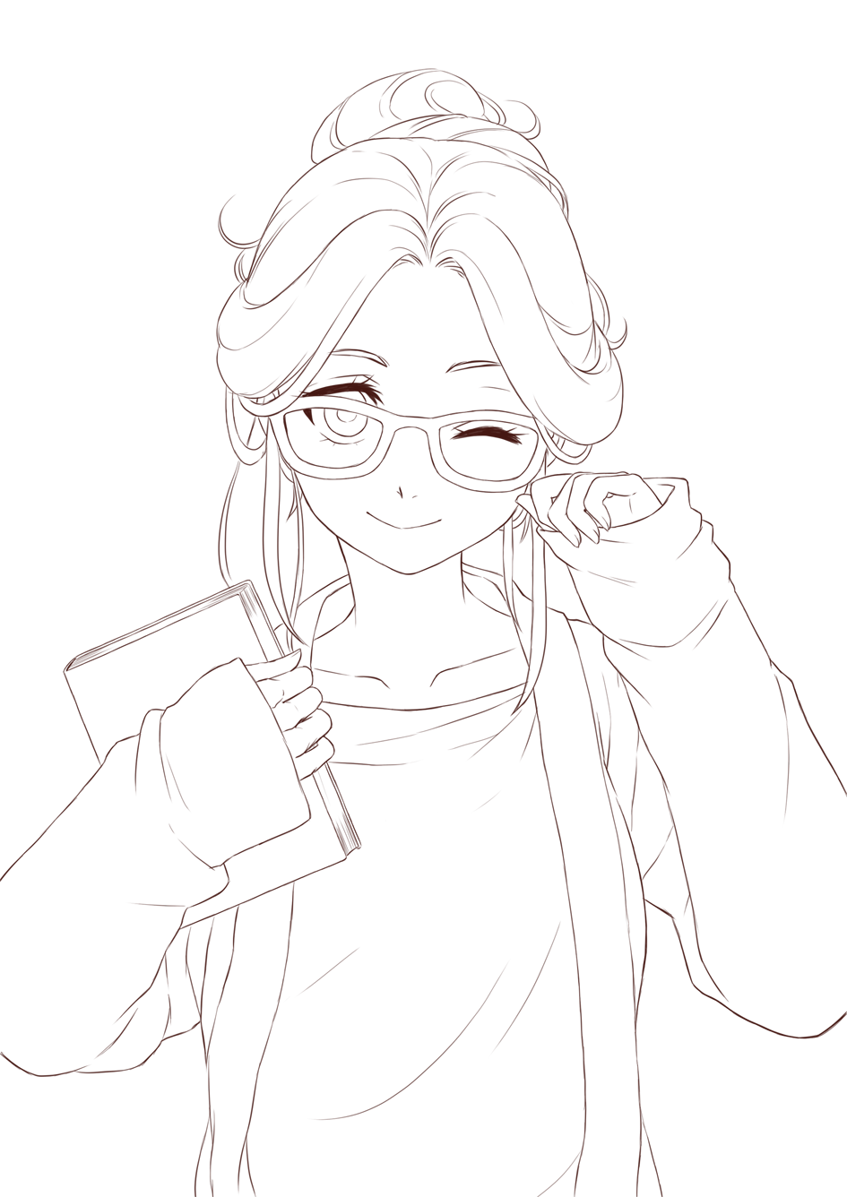 anime lineart transparent.