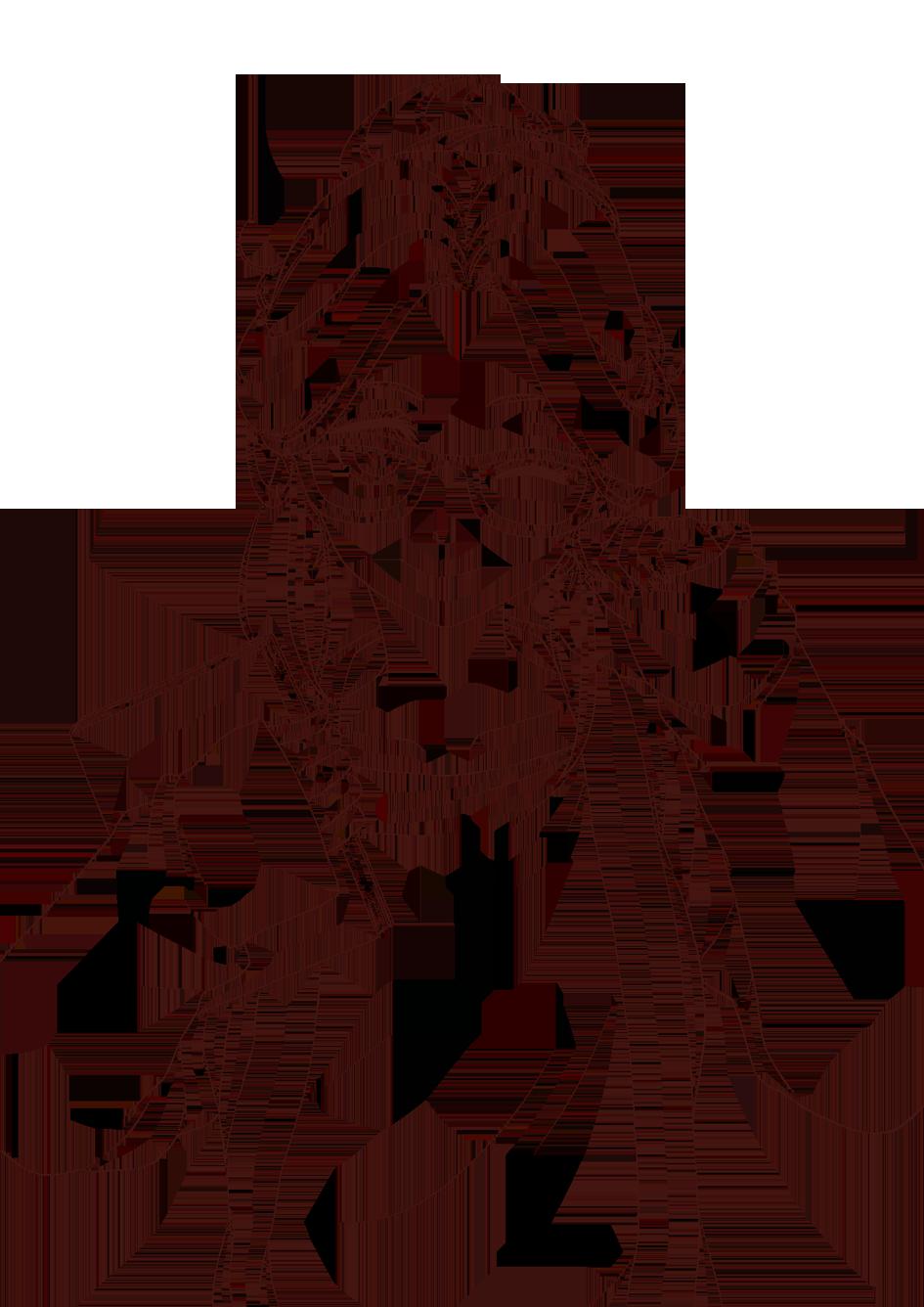 anime lineart transparent.