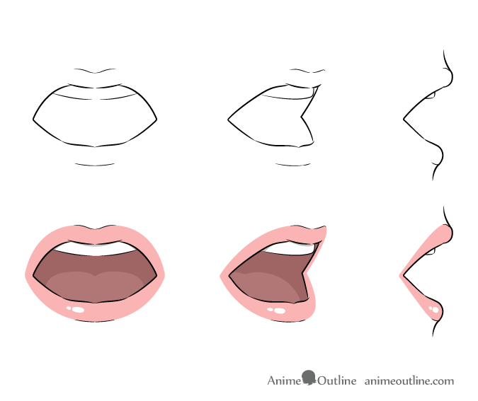 Anime Lips Png Vector, Clipart, PSD.