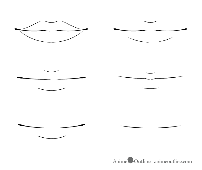 How to Draw Anime Lips Tutorial.