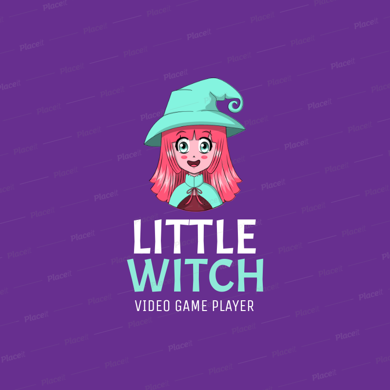 Gaming Logo Maker with a Happy Anime.