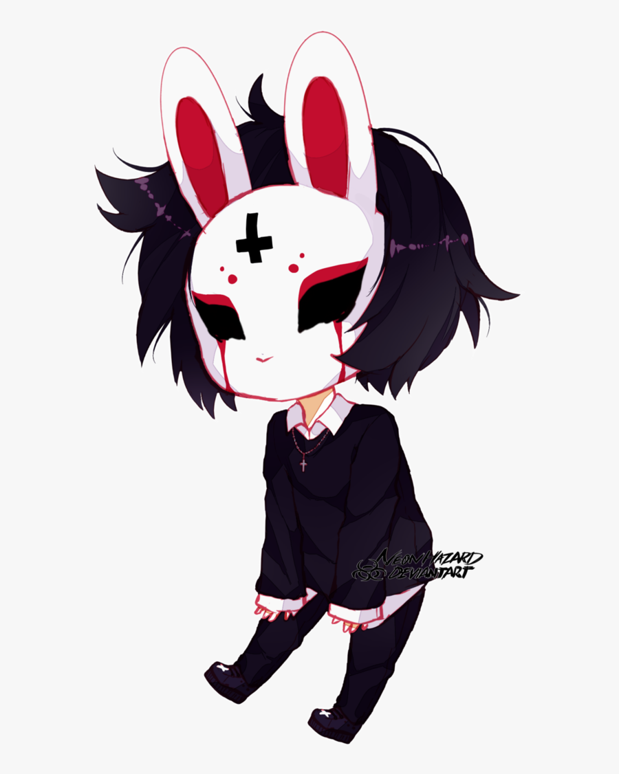 Anime Girl Bunny Mask Clipart , Png Download.