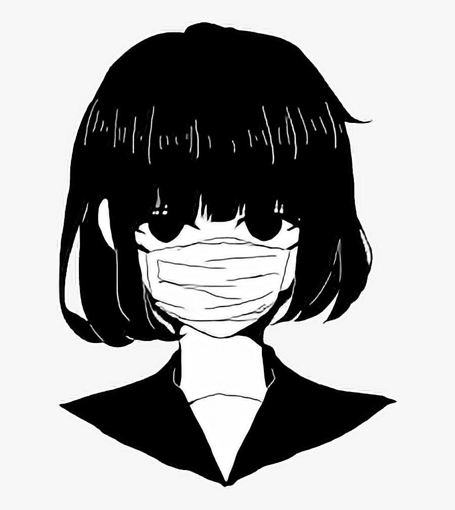 anime #edgy #blackandwhite #black #white #aesthetic.