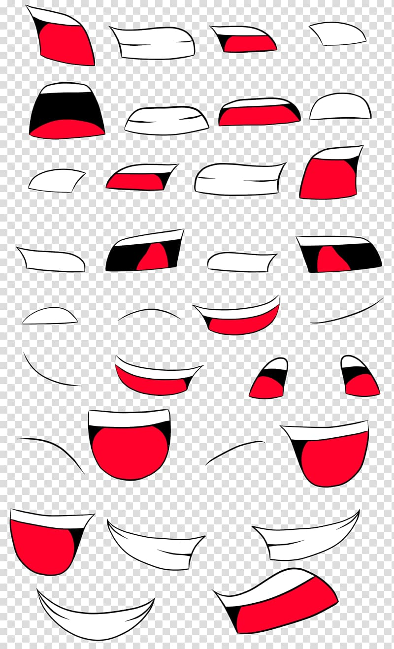 Mouth Drawing Animation Anime , mouth smile transparent.