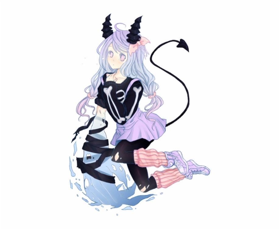 Pastel Goth Tumblr Anime , Png Download.