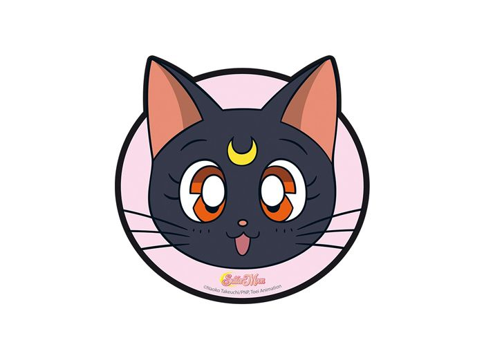 Mousepad with Luna's face from the anime series Sailor Moon.