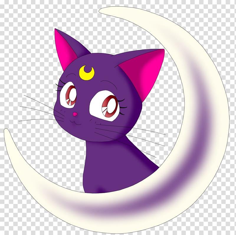 Purple cat illustration, Luna Sailor Moon Artemis Sailor.