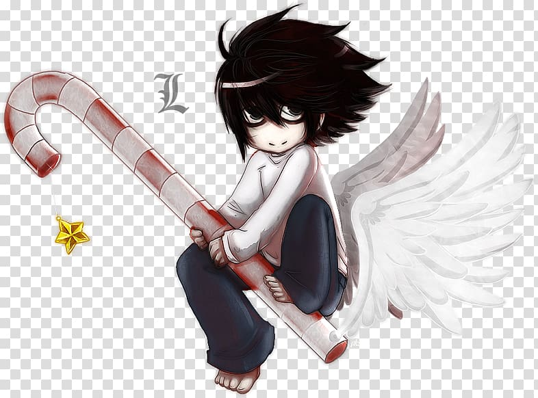 Light Yagami Near Anime Death Note, L transparent background.