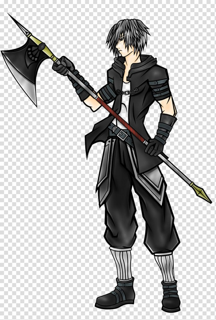 Anime , Dark Warrior Free transparent background PNG clipart.