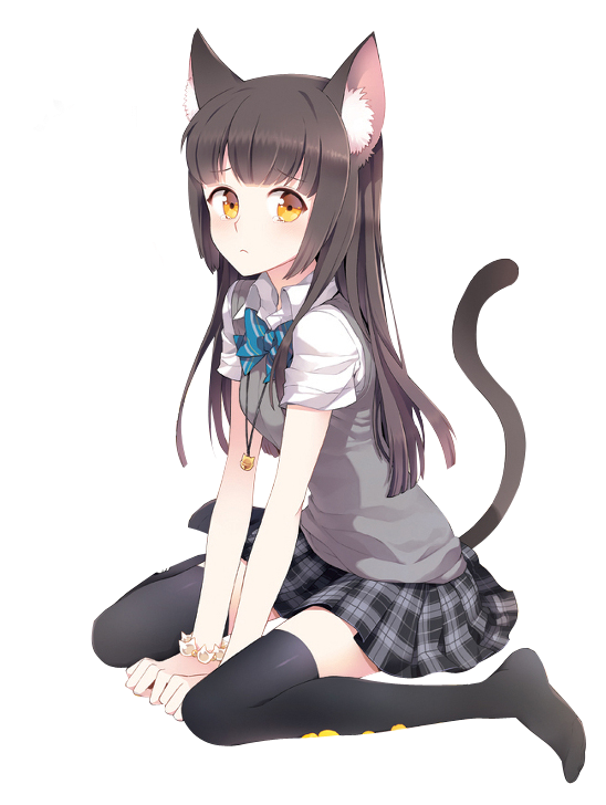 Anime cat girl png #30695.