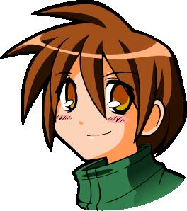 Emo anime boy clipart.