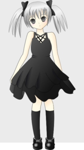 Anime girl hair clipart.