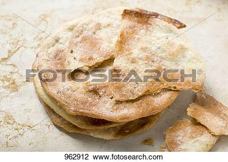 Stock Photo of Caramelised aniseed biscuits (Spain) 962912.