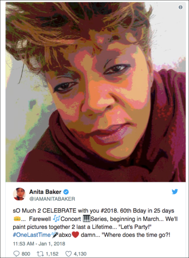 Anita Baker 60+! Giving You The Best She's Got One Last Time.