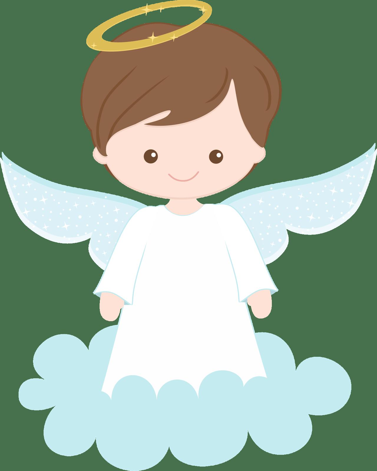 Baby Boy Baptism Angel Png.