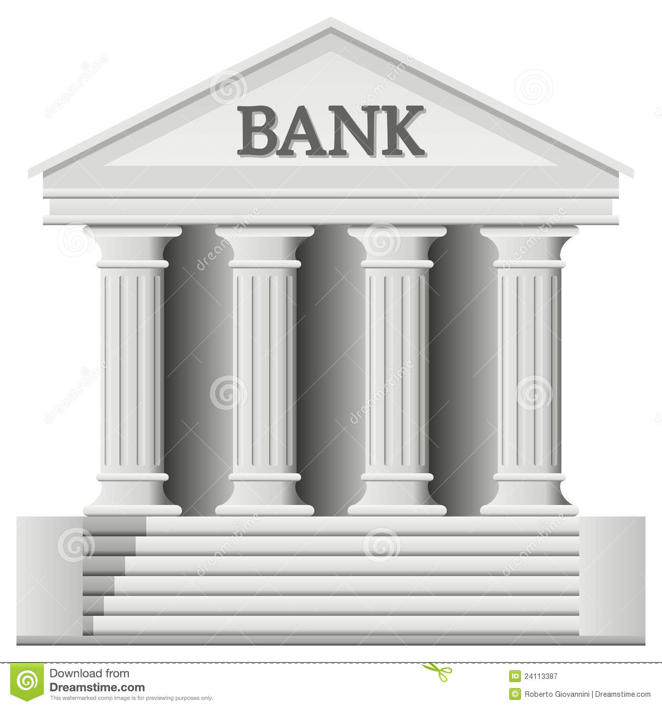 Bank Stock Illustrations.
